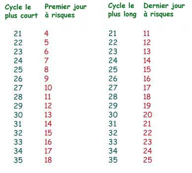 cycle 33 jours